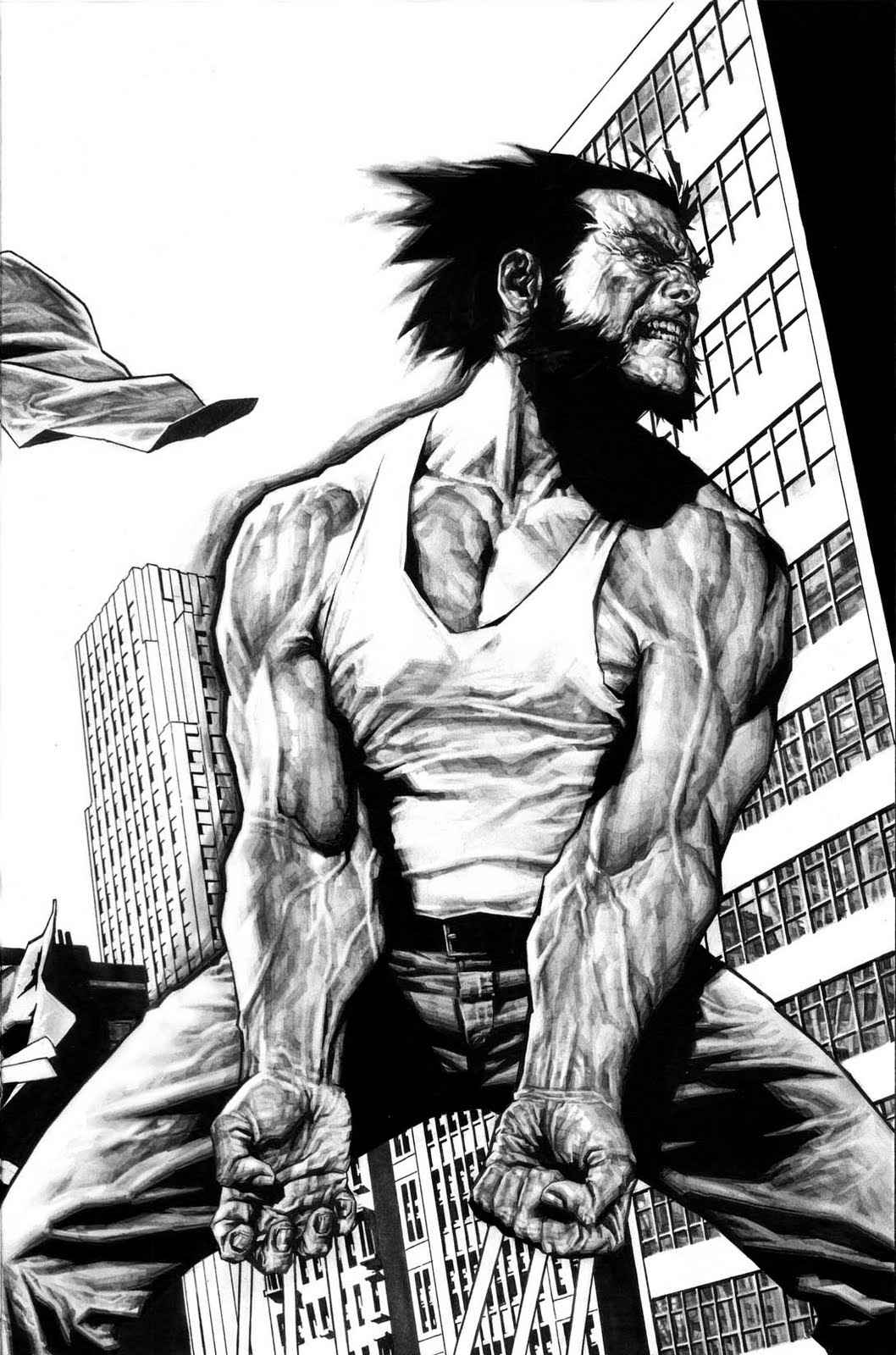 Wolverine comic art