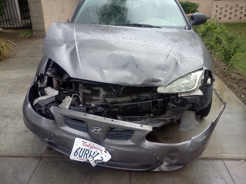 The car I walked out of without injury and with the full burden of the accident