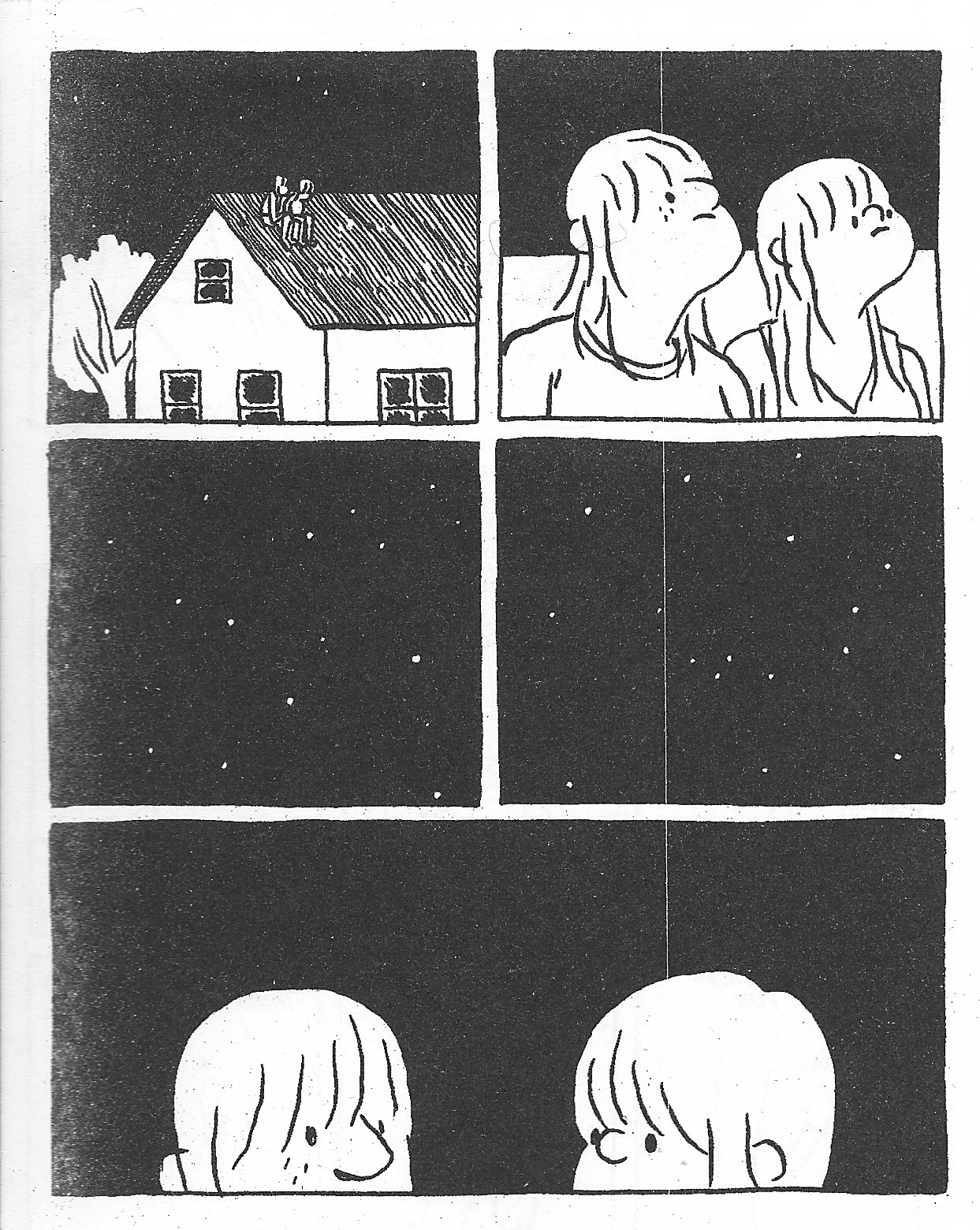 Cartoon of couple at night