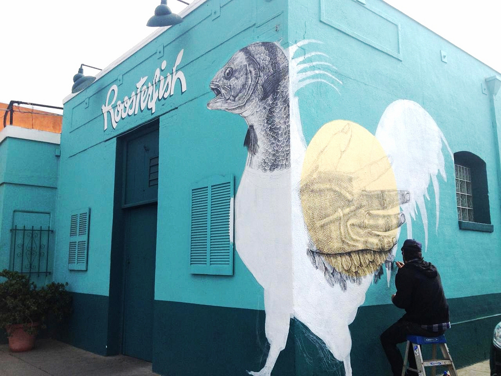 Roosterfish mural