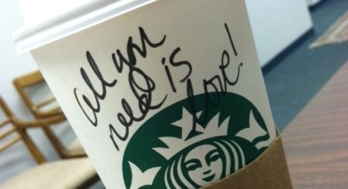 starbucks all you need is love
